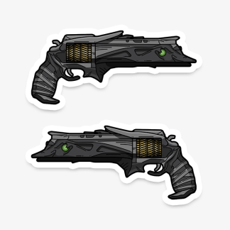 Destiny Thorn hand cannon vinyl die-cut gaming weapon sticker by WildeThang