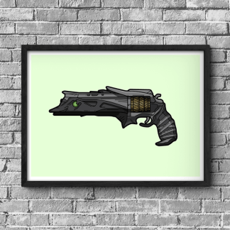 Destiny Thorn hand cannon illustration gaming poster by WildeThang