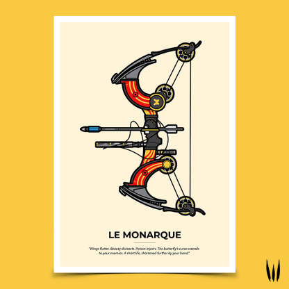 Destiny 2 Le Monarque exotic bow gaming poster designed by WildeThang