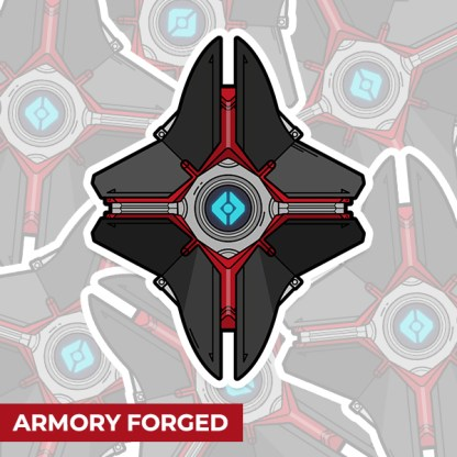Destiny 2 Armory Forged ghost shell sticker designed by WildeThang