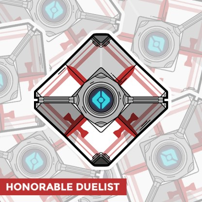 Destiny 2 Honorable Duelist ghost shell vinyl sticker designed by WildeThang