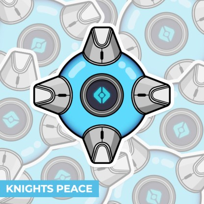 Destiny 2 Knights Peace ghost shell vinyl sticker designed by WildeThang