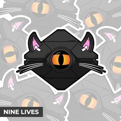 Destiny 2 Nine Lives ghost shell vinyl sticker designed by WildeThang