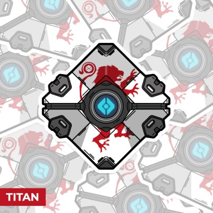Destiny 2 Titan ghost shell vinyl sticker designed by WildeThang