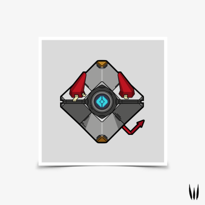 Destiny Deviled ghost shell square poster by WildeThang