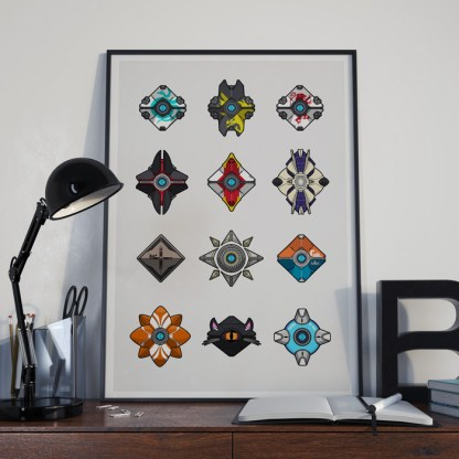 Destiny 2 Ghost Shell Collection gaming poster by WildeThang