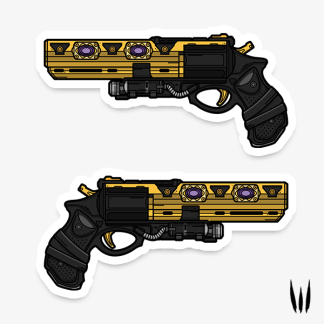 Destiny 2 Austringer hand cannon vinyl sticker designed by WildeThang