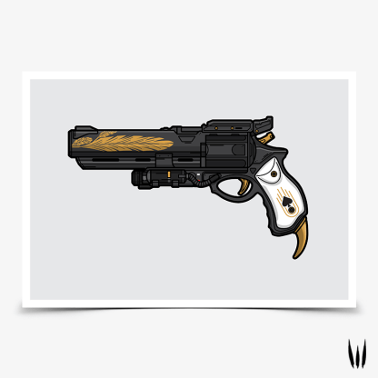 Destiny 2 Hawkmoon Moonglow hand cannon gaming poster designed by WildeThang
