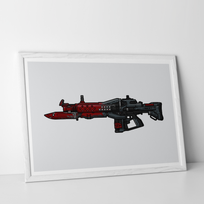 Destiny Red Death pulse rifle gaming poster designed by WildeThang