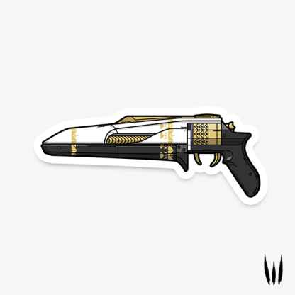 Destiny 2 Midnight Coup hand cannon vinyl sticker designed by WildeThang