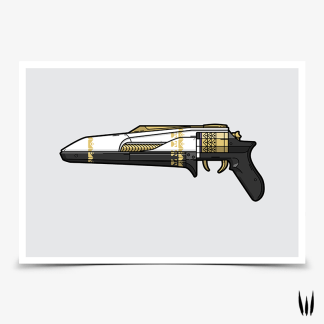 Destiny 2 Midnight Coup hand cannon gaming poster designed by WildeThang