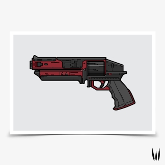 Destiny 2 Kindled Orchid hand cannon gaming poster designed by WildeThang