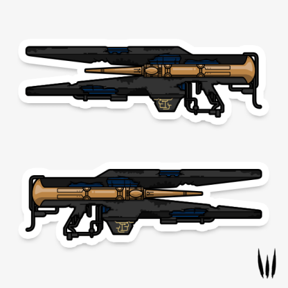 Destiny 2 divinity exotic trace rifle vinyl sticker designed by WildeThang