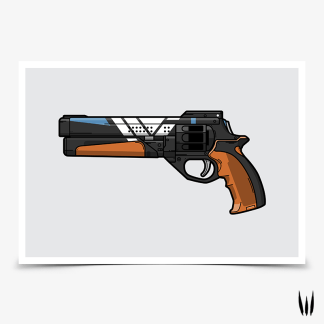 Destiny 2 Service Revolver hand cannon gaming poster designed by WildeThang