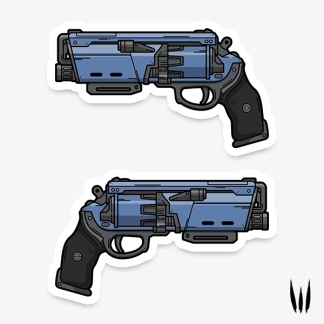 Destiny 2 Duke Mk.44 hand cannon vinyl sticker designed by WildeThang