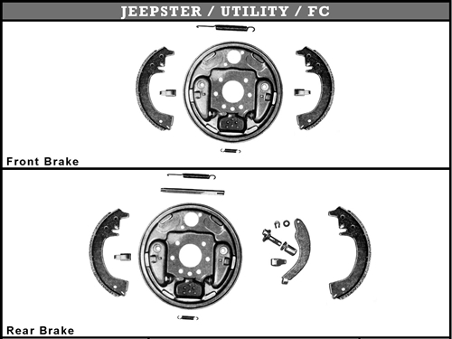 Willys America Jeepster / Utility / FC Brake Parts for