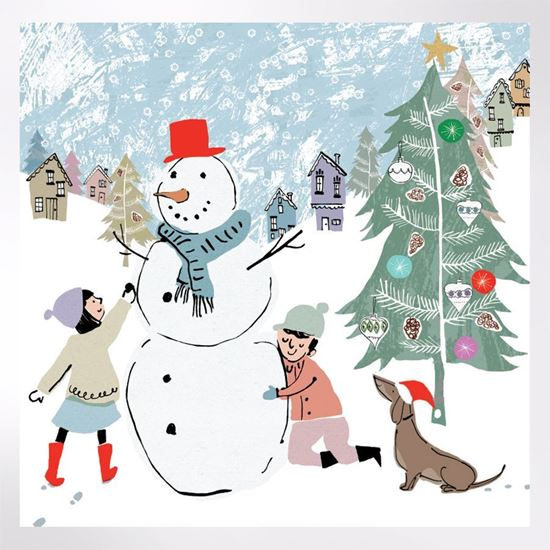 Woodland Trust Shop Snowman Hugs Christmas Cards