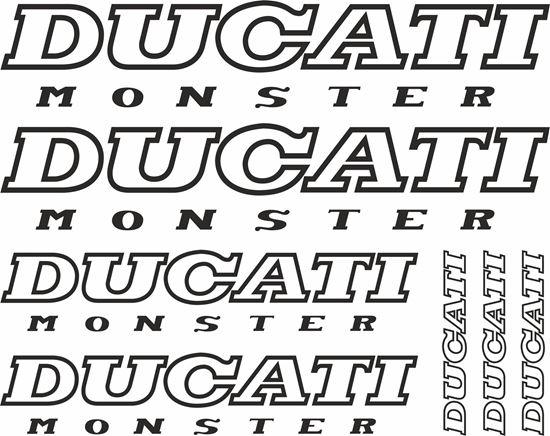 Ducati Monster Decals Stickers Satu Sticker