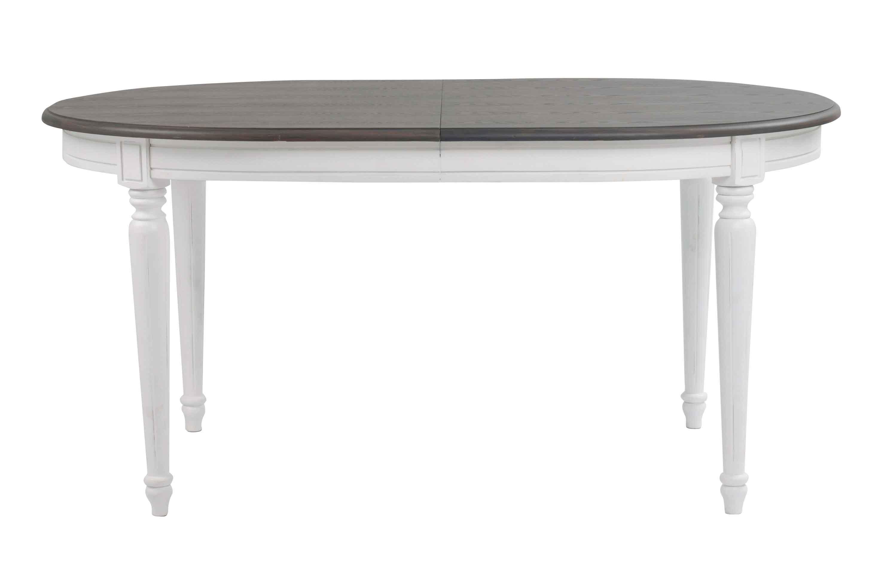 Usædvanlig Rundt Spisebord Med Tillægsplader   Spisebord Ovalt Med Udtræk ZC65