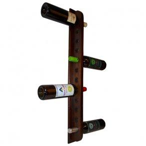 large selection of wall mounted wine racks