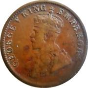 1911 1/4 One Quarter Anna George V King Emperor Calcutta Mint