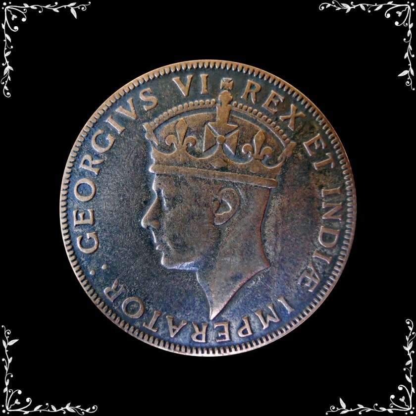 1941 1 SHILLINGS KGV East Africa Old Coin RARE