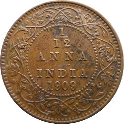 1909 1/12 One Twelve Anna Edward VII King Emperor - Calcutta Mint - RARE