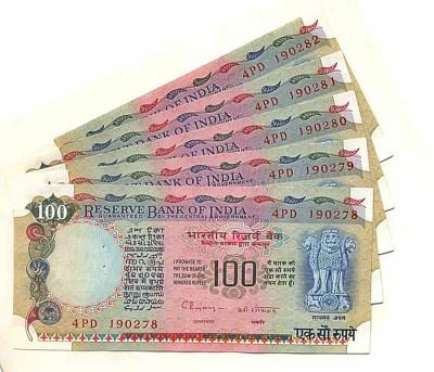 G43 100 Rupee UNC Note - Sig Dr.C.Rangarajan - Plain Inset