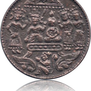 old-copper-token-coin-sri-ram-sita-laxman-hanuman-ref