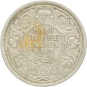 1913 1/2 Half Rupee Silver Coin King George V Calcutta Mint Rare Coin - Best Buy