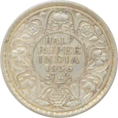 1936 1/2 Half Rupee Silver Coin King George V Calcutta Mint Rare Coin - Best Buy