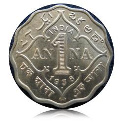 1936 1 Anna Coin King George V