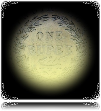 1840 1 Rupee Victoria Queen Continuous ENGLISH HEAD 11 O CLOCK DIE ROTATION