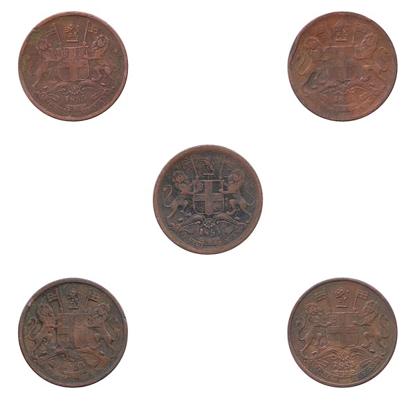 1853 12 Half Pice Coin British East India Company - Best Buy