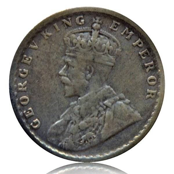 1918 1/4 Quarter Rupee George V King Emperor Calcutta Mint - Best Buy