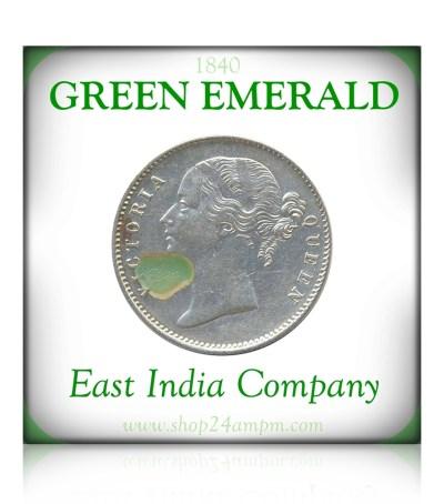 1840One Rupee Silver Coin Victoria Queen Divided Legend Calcutta Mint - RARE