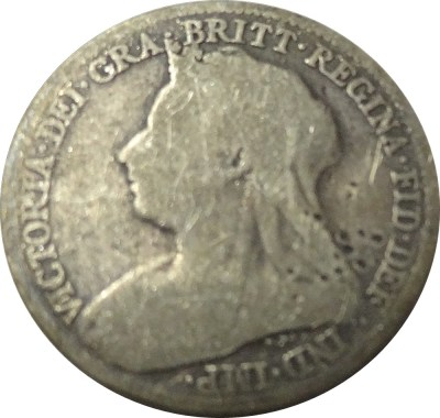 1895 6 pence Old head Queen VICTORIA DEI GRA BRITT