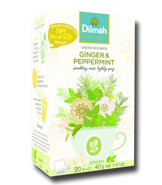Dilmah Green Rooibos Ginger and Peppermint
