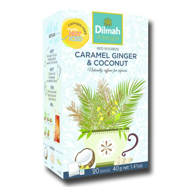 Dilmah Red Rooibos Caramel Ginger Coconut