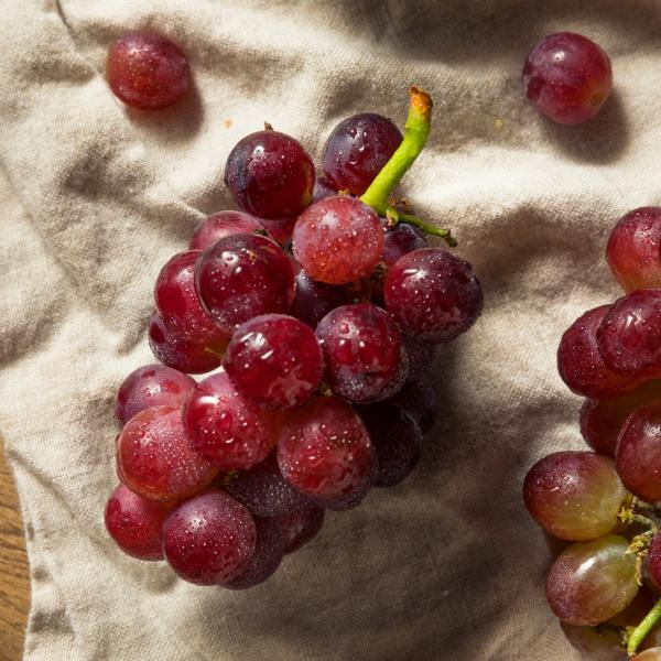 Raw Red Grapes