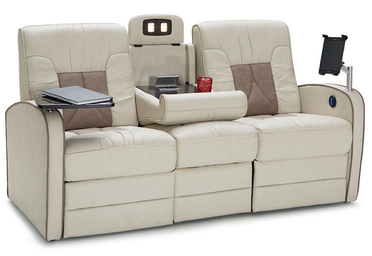 double reclining sofa with fold down table style of chariot rv furniture package, seating - shop4seats.com