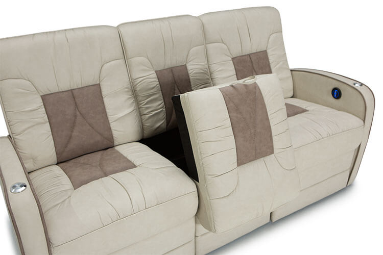 double reclining sofa with fold down table two piece cover chariot rv furniture package, seating - shop4seats.com