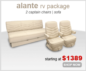 rv couch and chair covers fishing chairs with rod holders seating furniture shop4seats com alante seats package