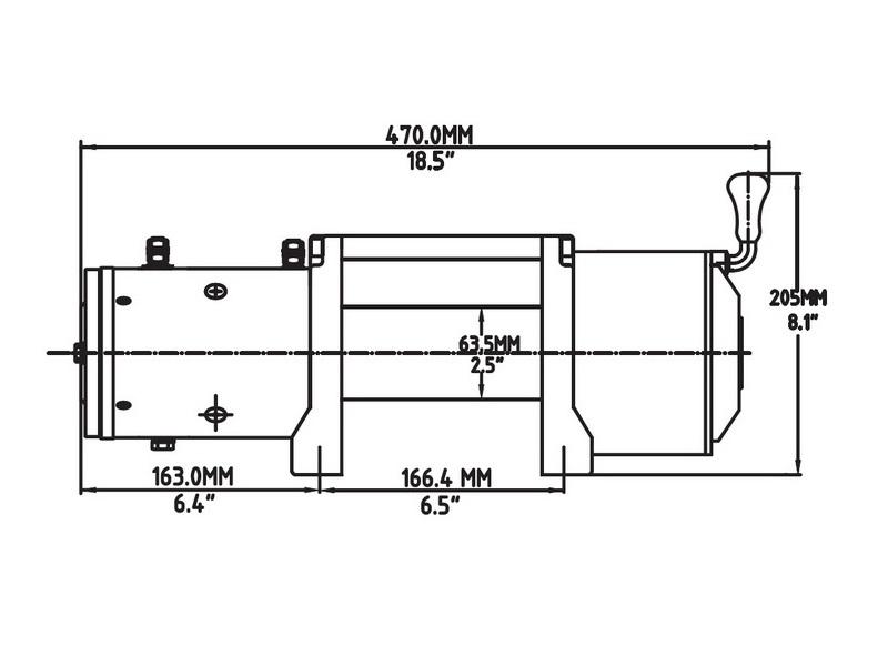Купить лебедку T-max EW-6500 OFF-ROAD с пультом управления