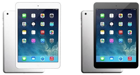iPad miniはシルバーとスペースグレイから選択できます