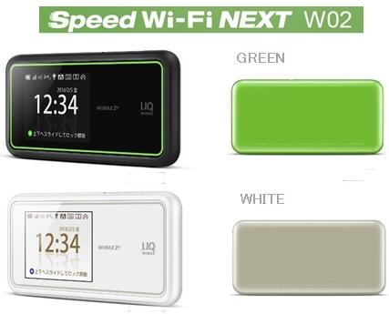 Speed Wi-Fi NEXT W02の特長