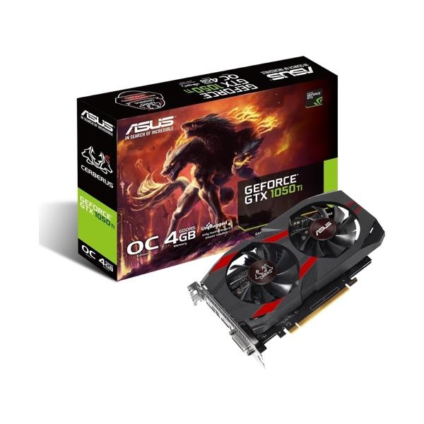 Asus GeForce GTX 1050 Ti 4 GB Cerberus OC