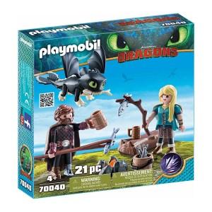 Playmobil Dragons: Ο Ψάρης και η Άστριντ με έναν Δρακούλη (εως 36 δόσεις)
