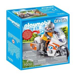 Playmobil City Life: Διασώστης με Μοτοσικλέτα (εως 36 δόσεις)