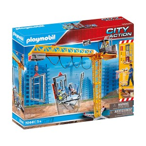 Playmobil City Action: RC Crane with Building Section (εως 36 δόσεις)